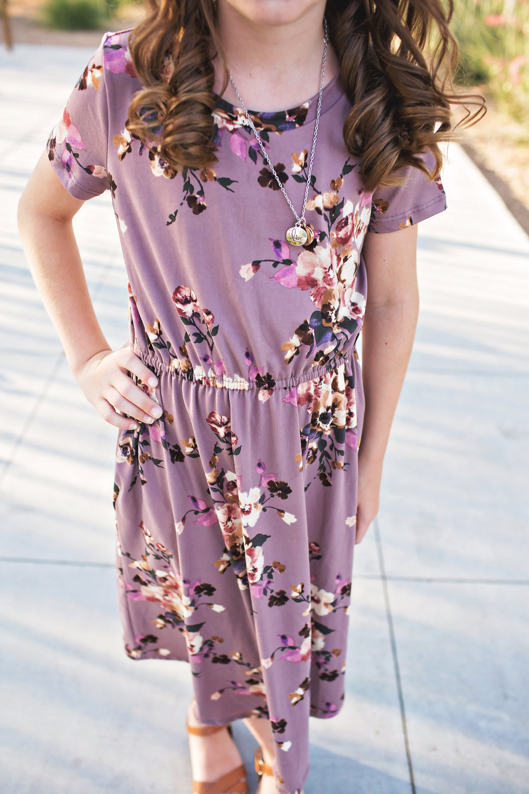 Felicity Dress in Lavender- Short Sleeve