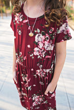 Load image into Gallery viewer, Felicity Dress in Maroon- Short Sleeve