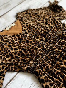 Presley Dress in Leopard for tweens