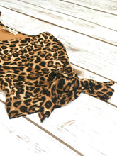 Load image into Gallery viewer, Presley Dress in Leopard for tweens