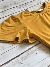 Load image into Gallery viewer, Charlotte Dress in Mustard for tweens