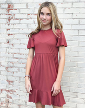 Load image into Gallery viewer, Charlotte Dress in Dusty Rose for tweens