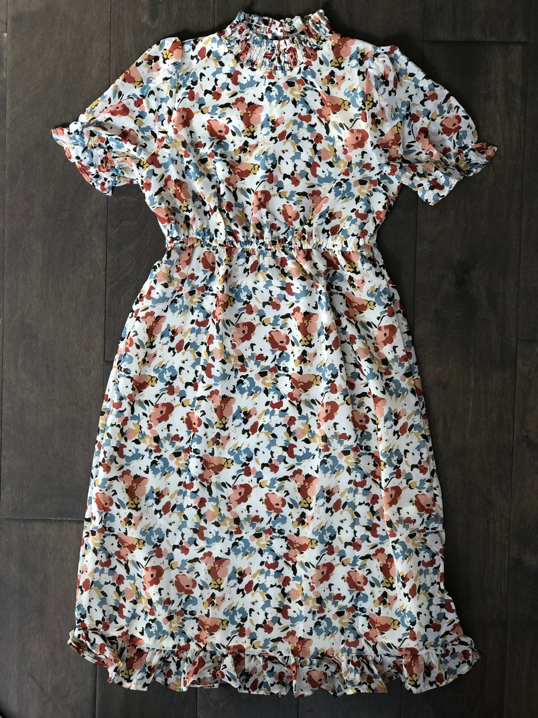 Girls Spring Floral Midi Dress