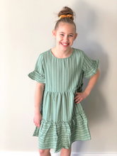 Load image into Gallery viewer, Girls Boho-Style Ruffle Dress