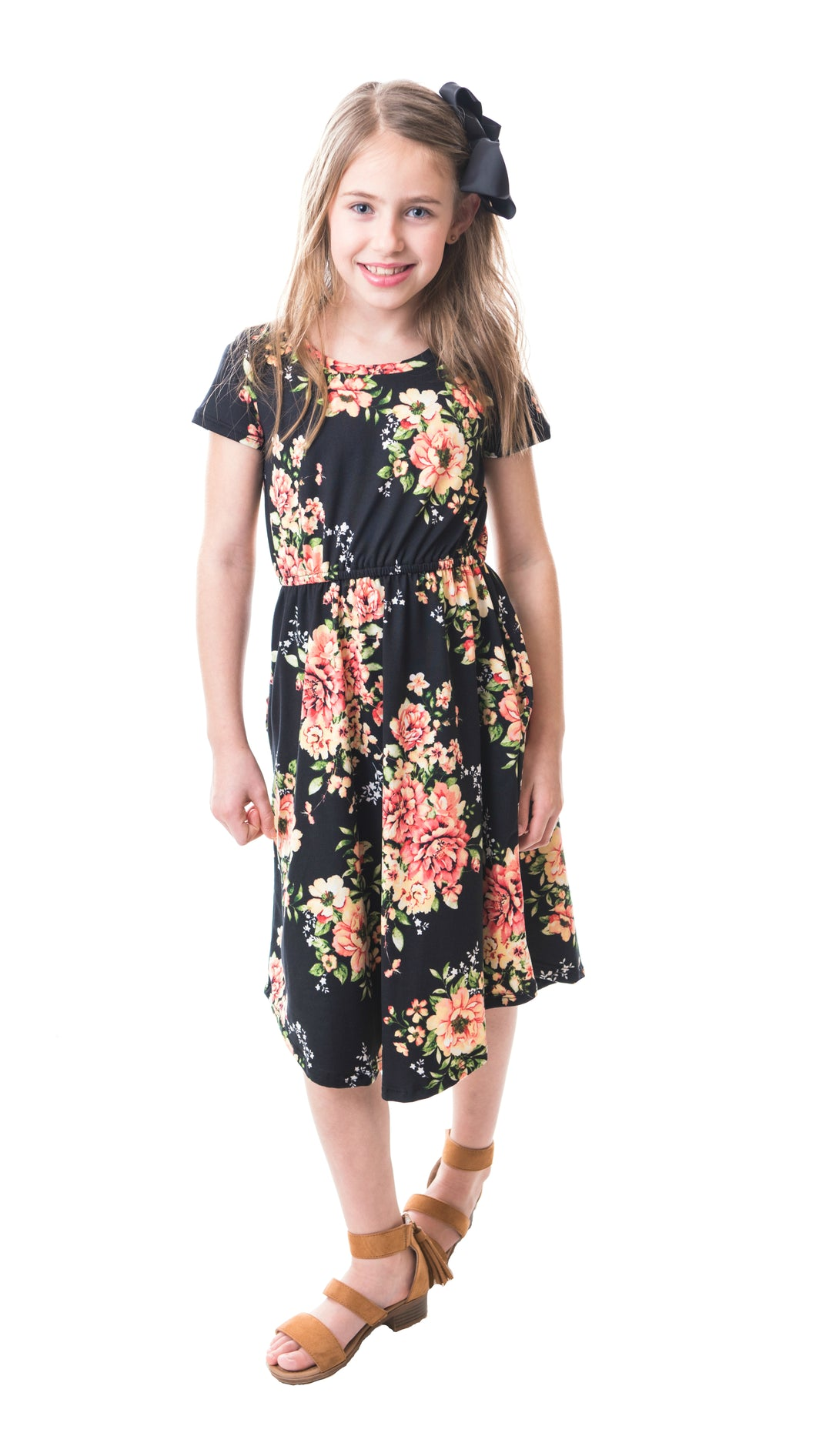 Felicity Dress in Black- Short Sleeve