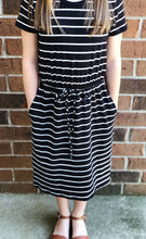 Load image into Gallery viewer, Midi Stripe Fit-N-Flare Dress