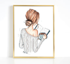 Cozy Coffee Girl Fashion Illustration