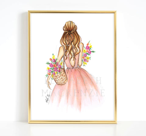 Peaceful Yogini Girl Fashion Illustration