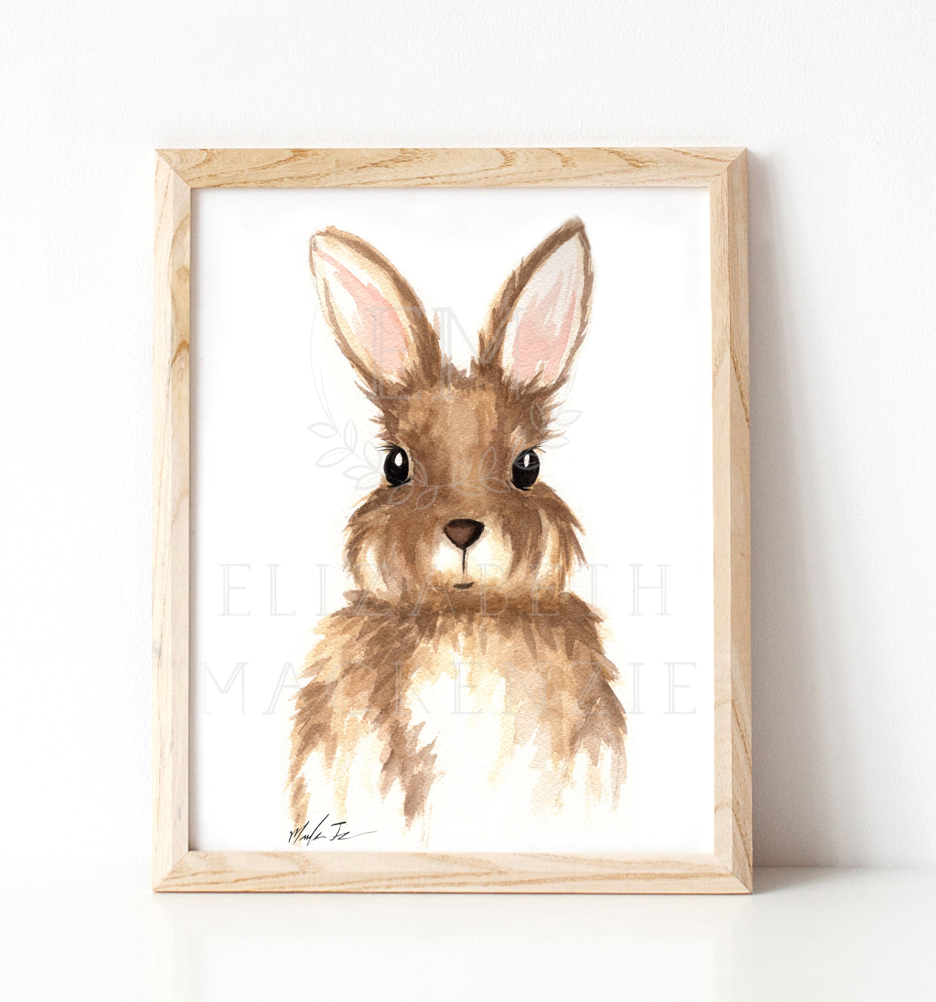 Rabit Girl Nursery Illustration Print