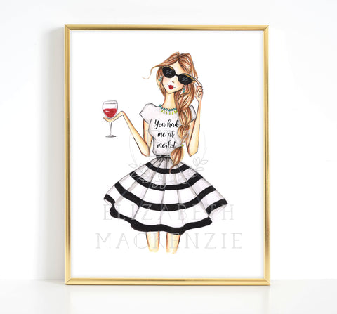 You had me at Merlot Girl Fashion Illustration