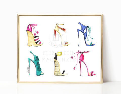 Fashion Heels Illustration