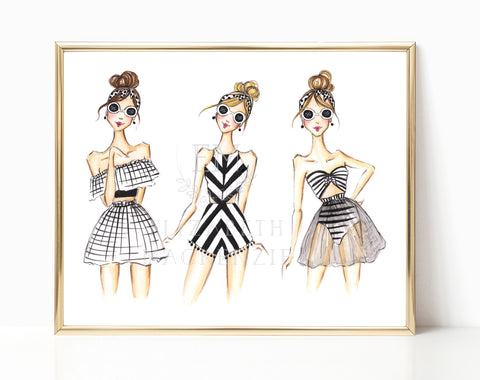 The Weekend Girls Fashion Illustration
