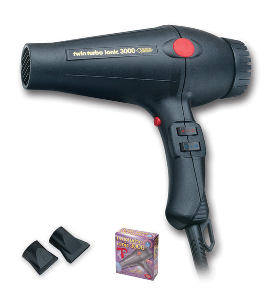 Turbo Power Twin Turbo Ionic 3000 Hair Dryer #322