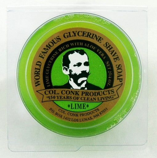Colonel Conk Lime Glycerin Shave Soap