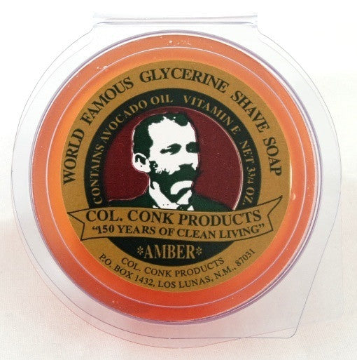 Colonel Conk Amber Glycerin Shave Soap