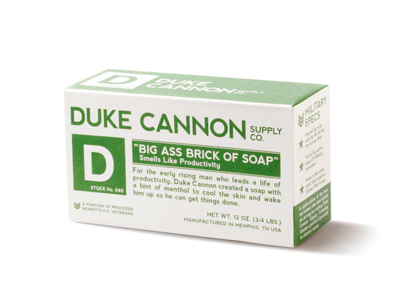 "Duke Cannon Big Ass Brick of Soap ""Smells Like Productivity"""