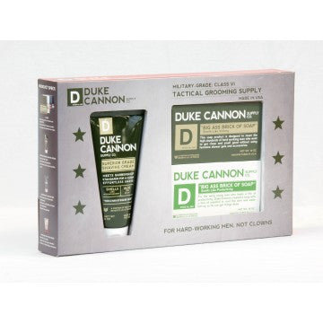 Duke Cannon Tactical Grooming Supply Shower + Shave Kit