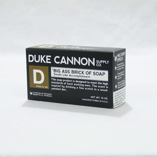 "Duke Cannon Big Ass Brick of Soap ""Smells Like Accomplishment"""