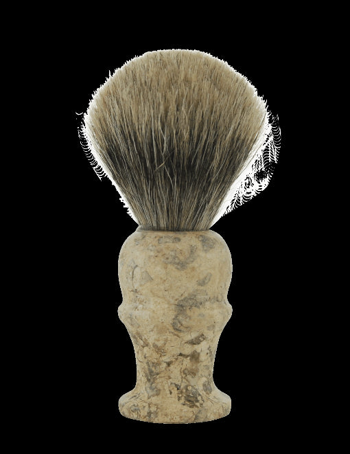 Pure Badger Shave Brush with Marble Handle #160F