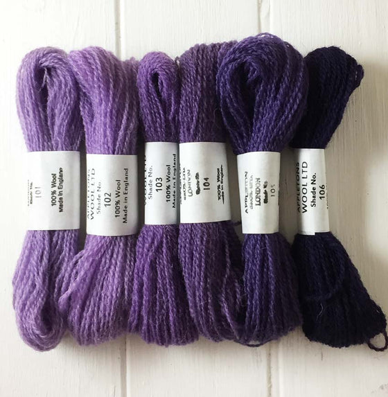 Appleton Wools Purple 101-106