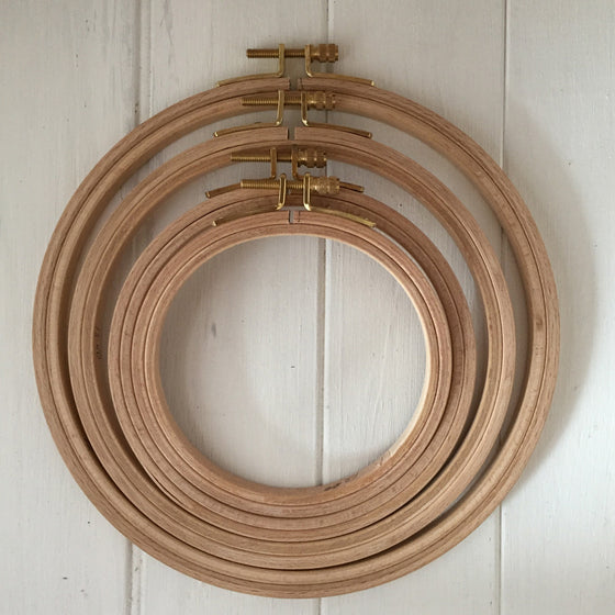Wooden Hoops 18mm