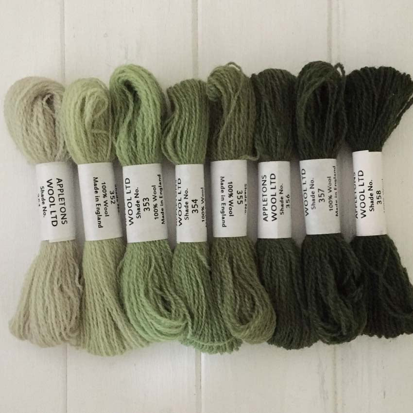 Appleton Wools Grey Green 351-358