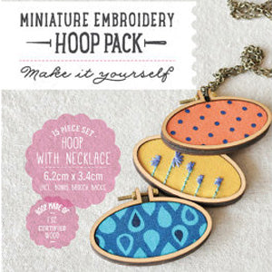 Miniature Hoops Oval Horizontal - 3 piece set