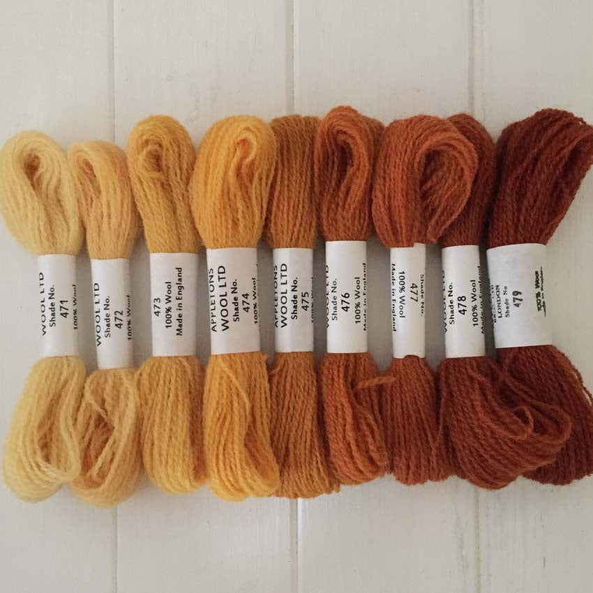 Appleton Wools Autumn Yellow 471-479