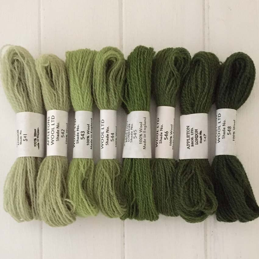Appleton Wools Early English Green 541-548