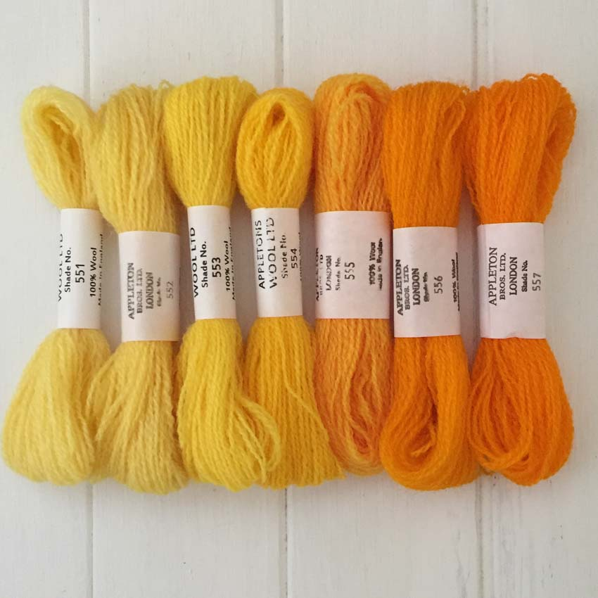 Appleton Wools Bright Yellow 551-557