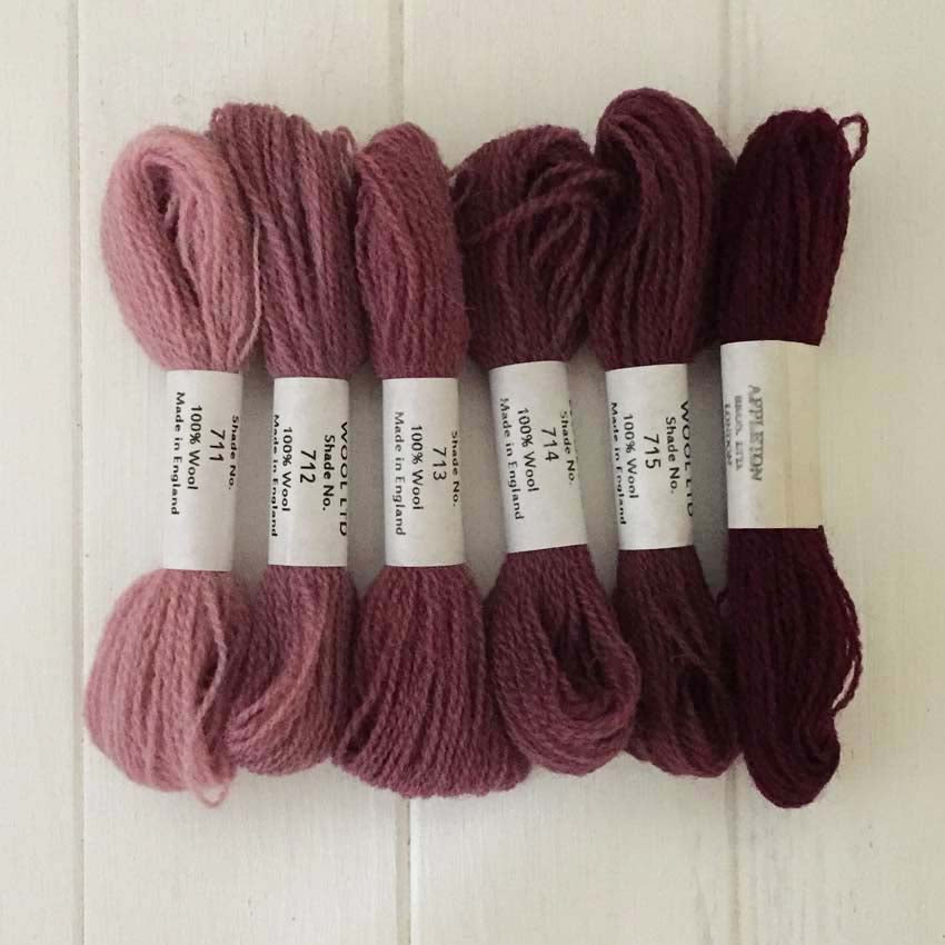 Appleton Wools Wine Red 711-716