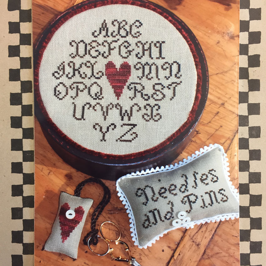 Alphabet Heart Sewing Box