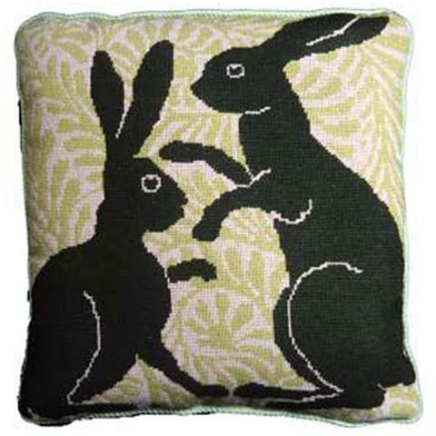 Green Boxing Hares