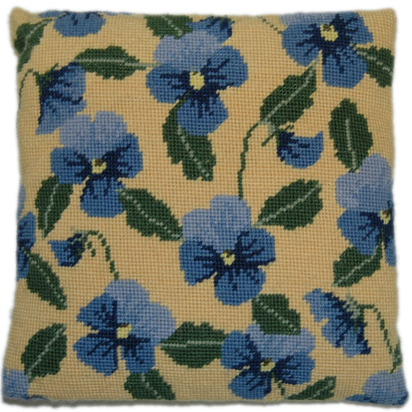 Blue Pansy Herb Pillow