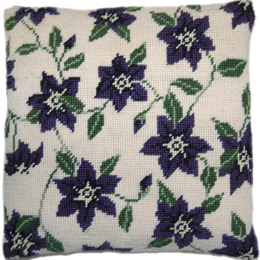 Purple Clematis Herb Pillow