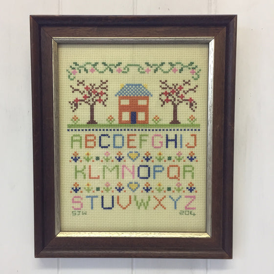 My House and Garden Alphabet Sampler