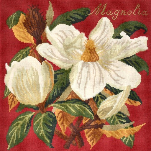 Magnolia on Red