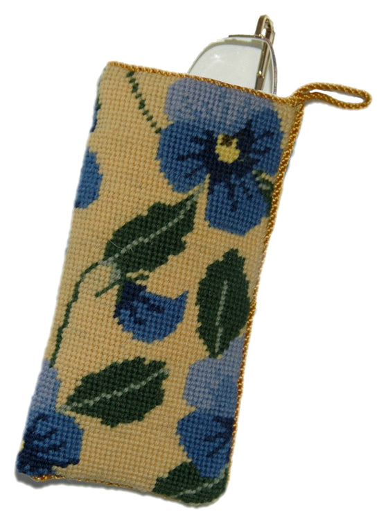 Blue Pansy Spectacle Case