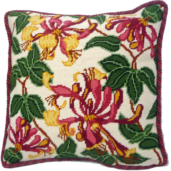 Pink Honeysuckle Cushion