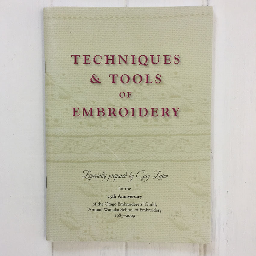 Technique and Tools of Embroidery