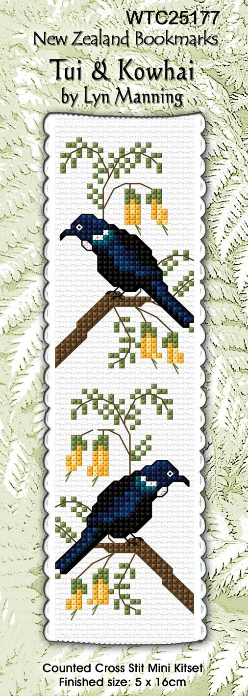 Tui and Kowhai Bookmark