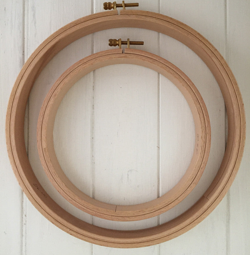 Wooden Hoops 24mm
