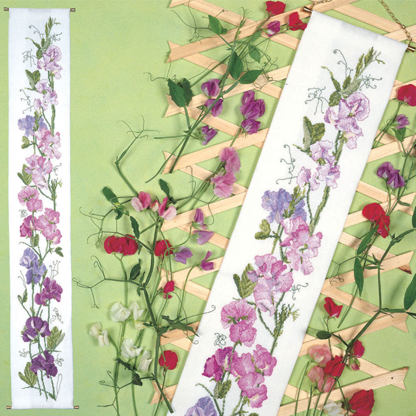 Sweet Peas Bellpull