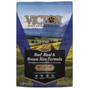 VICTOR SELECT BEEF MEAL & BROWN RICE DRY DOG FOOD - 15LB-08632302