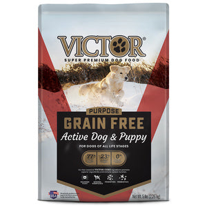 VICTOR ACTIVE DOG & PUPPY FORMULA GRAIN-FREE DRY DOG FOOD - 30LB-08632321