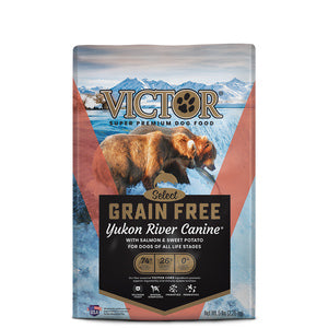 VICTOR YUKON RIVER SALMON & SWEET POTATO GRAIN-FREE DRY DOG FOOD - 30LB-08632323