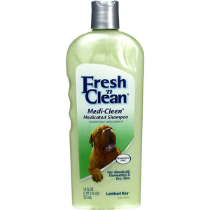 FRESH 'N CLEAN MEDI-CLEEN MEDICATED SHAMPOO FOR DOGS 18-OZ FRAGRANCE FREE-08641467