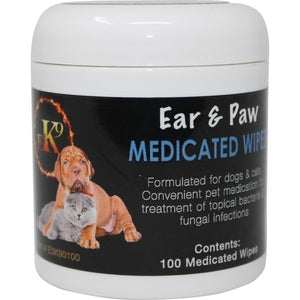 EAR & PAW MEDICATED WIPES 100-CT-08641618