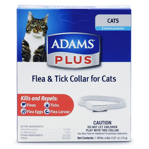 ADAMS PLUS FLEA & TICK COLLAR FOR CATS 7-MONTHS PROTECTION WHITE-08642188