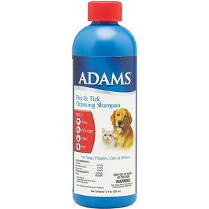 ADAMS FLEA & TICK CLEANSING SHAMPOO - 12 OZ.-08642195